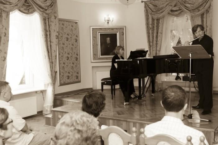 Flet i fortepian
