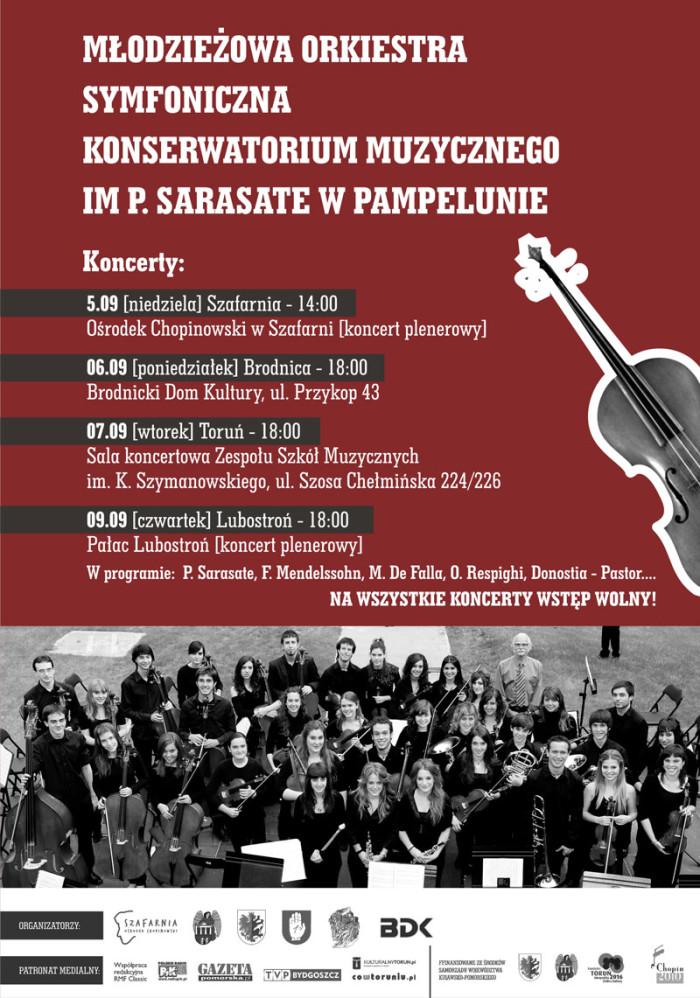 Młodzieżowa Orkiestra Symfoniczna z Pampeluny w Szafarni