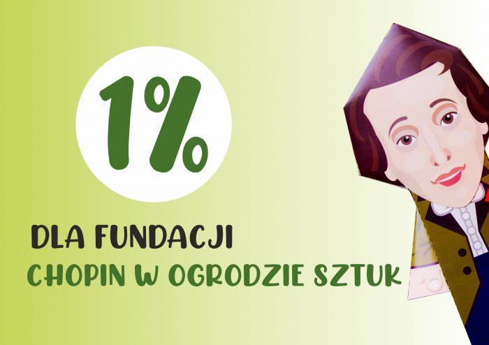 Podaruj 1% Fundacji Chopin w Ogrodzie Sztuk
