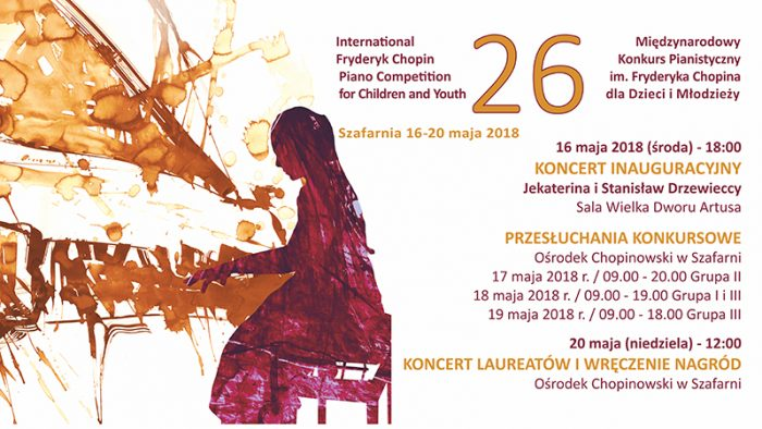 The list of qualified participants of The 26th International Fryderyk Chopin Piano Competition